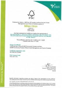 Certifikát FSC_0001