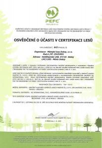 Certifikát PEFC česky