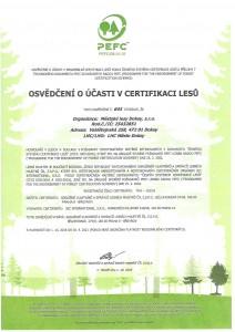 Certifikát PEFC